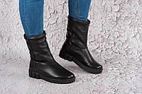 Женские кожаные зимние ботинки-угги. Украина