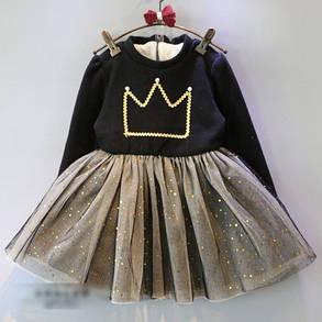 Нарядное детское платье на девочку утепленное на плюше  на 2 года, фото 2