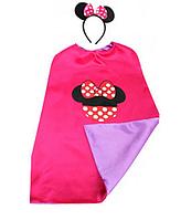 Карнавальный костюм накидка и обруч Минни Маус для девочки
