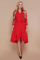 Сукня розміри 48 50 52 повномірний з воланом на запах, фото 2