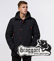 Braggart Arctic 44230 | Зимняя теплая парка черный-красный, фото 1