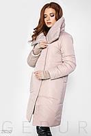 Зимнее пальто из плотной плащевки с утеплителем