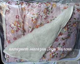 Теплое двухсторонее шерстяное одеяло двухспальное, фото 2