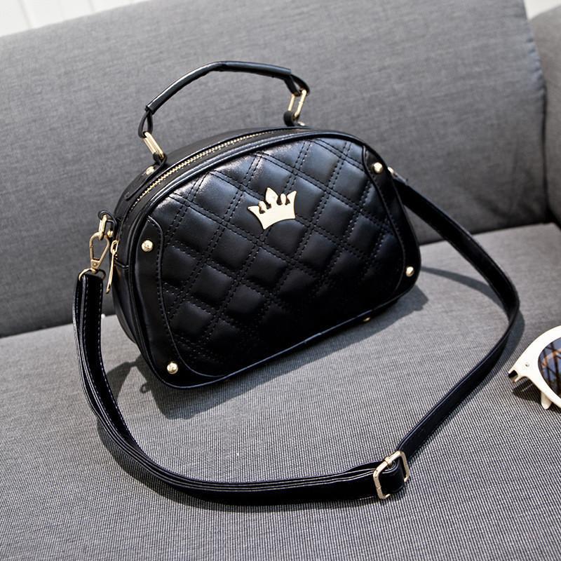 Женская сумка черная стеганая опт