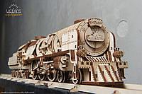 Деревянный экологичный конструктор «Локомотив с тендером V-Eкспресс», фото 1