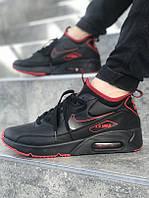 2a9458bd Кроссовки в стиле Nike Air Max 90 Ultra Mid Winter SE Black/Total Crimson  мужские