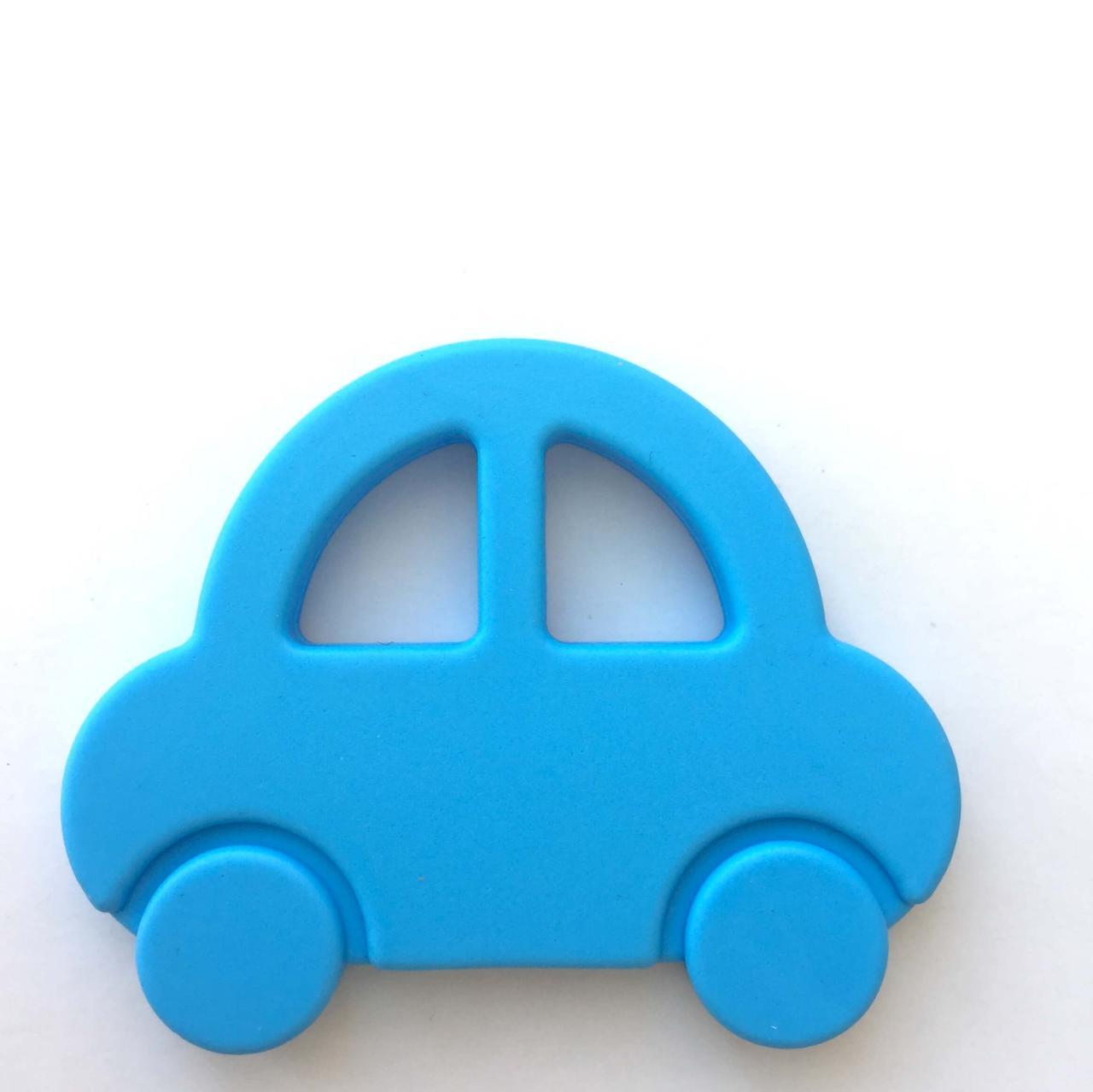 Машинка (голубой) силиконовый прорезыватель для зубов