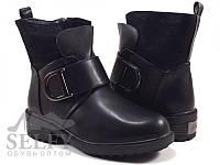 Ботиночки черные для девочки Клиби 32-37 раз.