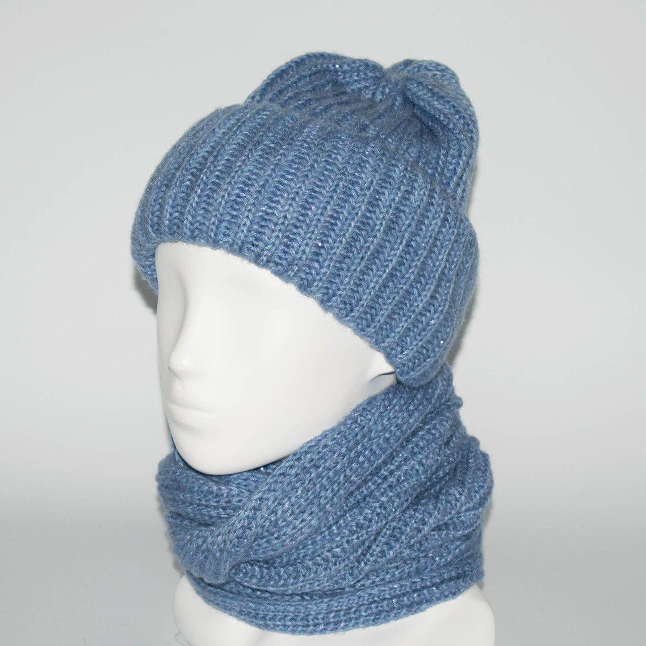 Женский комплект шапка + снуд (код 00180)