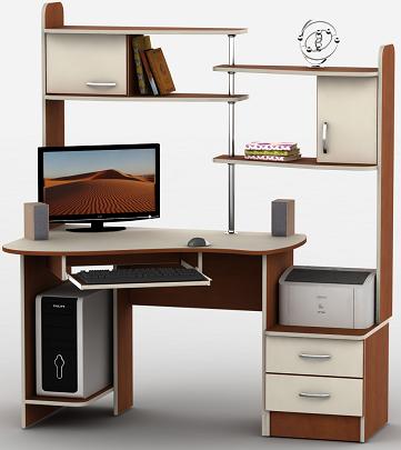 Компьютерный стол угловой Ливерпуль ― это многофункциональный, компактный угловой стол.
