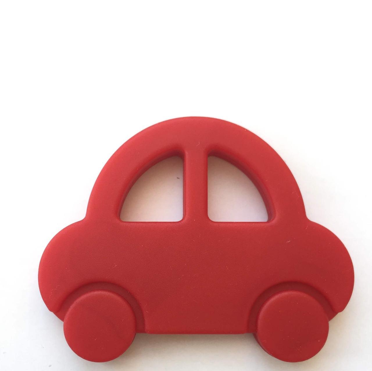 Машинка (красный) силиконовый прорезыватель для зубов