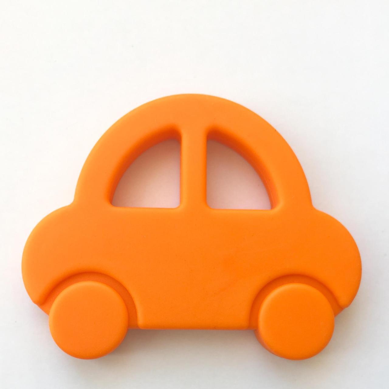 Машинка (оранжевый) силиконовый прорезыватель для зубов
