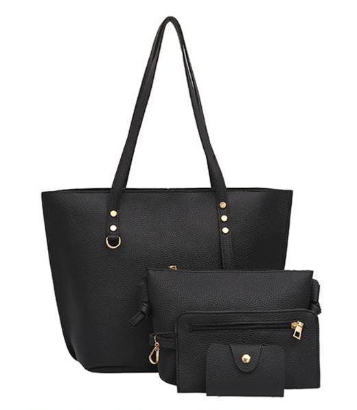Набор женских сумок 4в1 черный