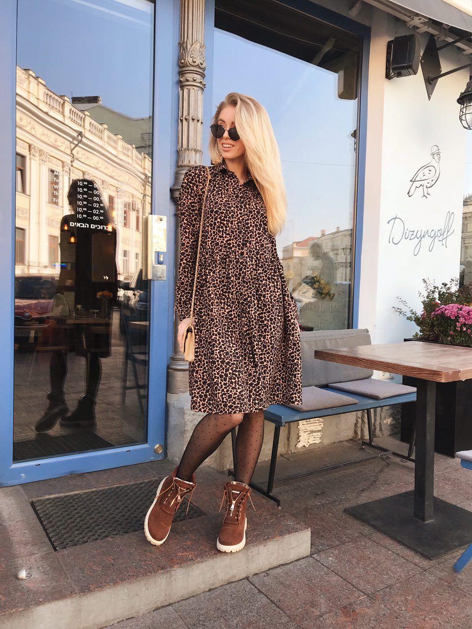 Женское платье с леопардовым прином, размер универсальный SML