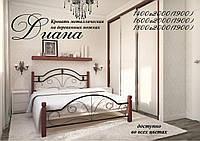 Металлическая кровать Диана на деревянных ножках ТМ «Металл-Дизайн»