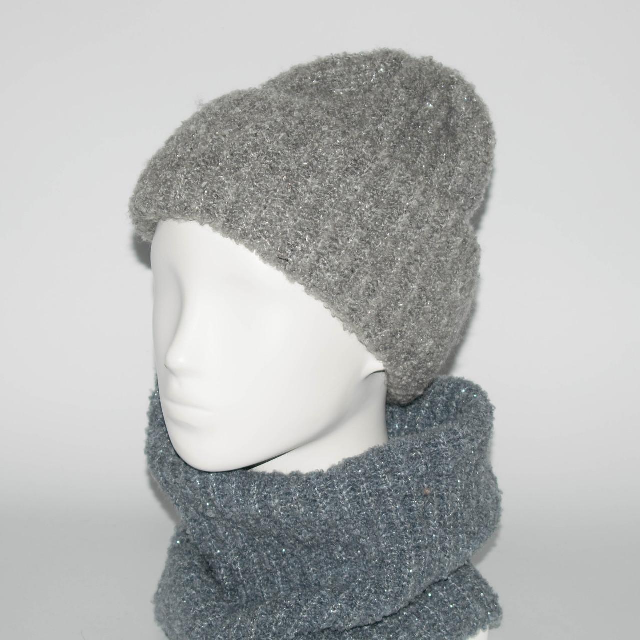 Женский комплект шапка + бафф Booklet (код 00189)