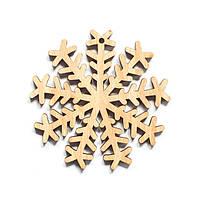 Ялинкова прикраса з дерева 50, сніжинка 8. 9 см. Обирай 6,12,24 іграшки - складай набір!