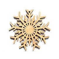 Ялинкова прикраса з дерева 51, сніжинка 7. 9 см. Обирай 6,12,24 іграшки - складай набір!