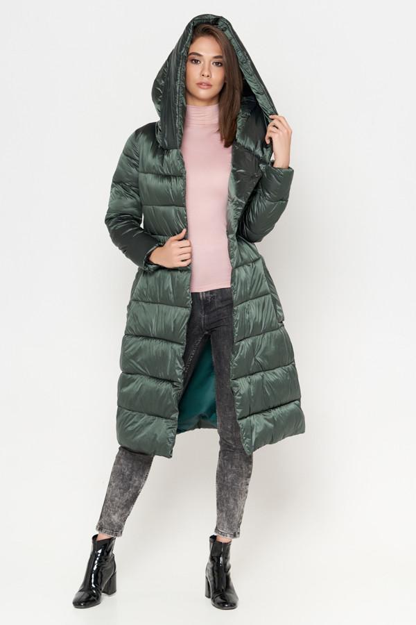 Куртка женская зимняя молодежная зеленая