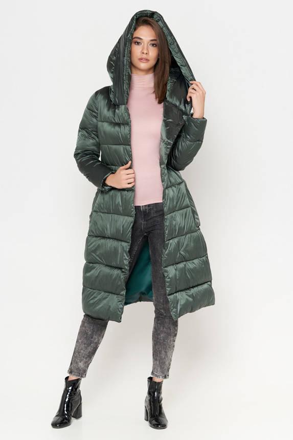 Куртка женская зимняя молодежная зеленая, фото 2