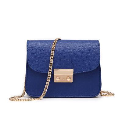 Маленькая синяя сумочка на цепочке опт