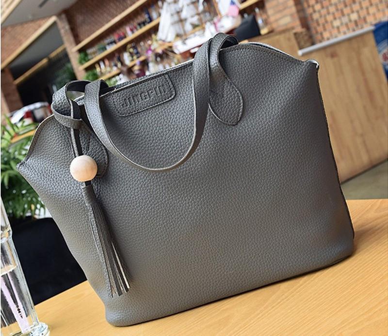 Сумка женская набор3в1 большая сумка, маленькая сумочка и кошелек набор