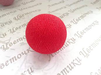 Бавовняний куля, червоний