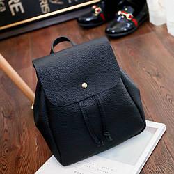 Женский рюкзак маленький черный