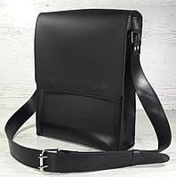 c89680b103f2 510-XL Натуральная кожа, Сумка планшет мужская под А4 черная  гладкая+ультраматовая