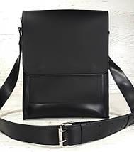 510-XL Натуральная кожа Планшет сумка мужская формат А4 черная кожаная сумка мужская планшет на плечо, фото 2
