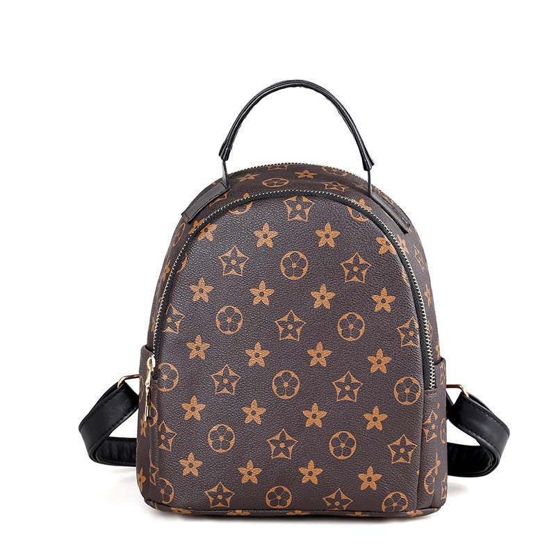 Женский рюкзак оптом из экокожи коричневый 725