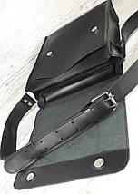 510-XL Натуральная кожа Планшет сумка мужская формат А4 черная кожаная сумка мужская планшет на плечо, фото 3