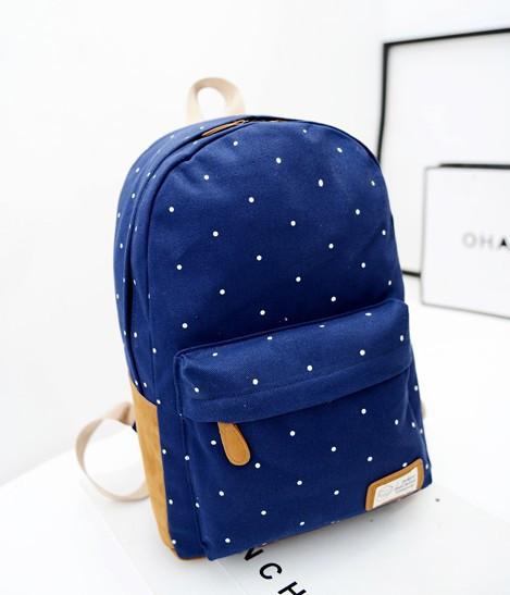 Детский школьный синий рюкзак 1045