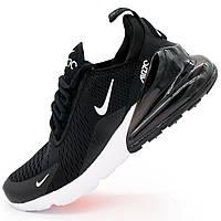 Кроссовки Nike Air Max 270 Flyknit черно белые. Топ качество! - Реплика р.(40, 42, 43, 44)