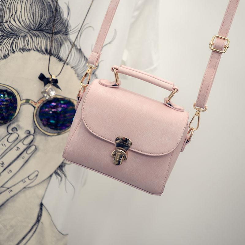 Женская сумочка клатч через плече розовая