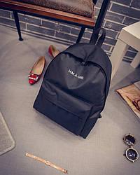 Рюкзак для девочки из ткани черный