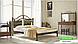 Металлическая кровать Диана на деревянных ножках ТМ «Металл-Дизайн», фото 3
