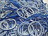 Набор синих двусторонних резиночек для плетения браслетов (Rainbow Loom)