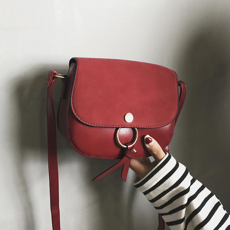 Женская сумочка красная маленькая