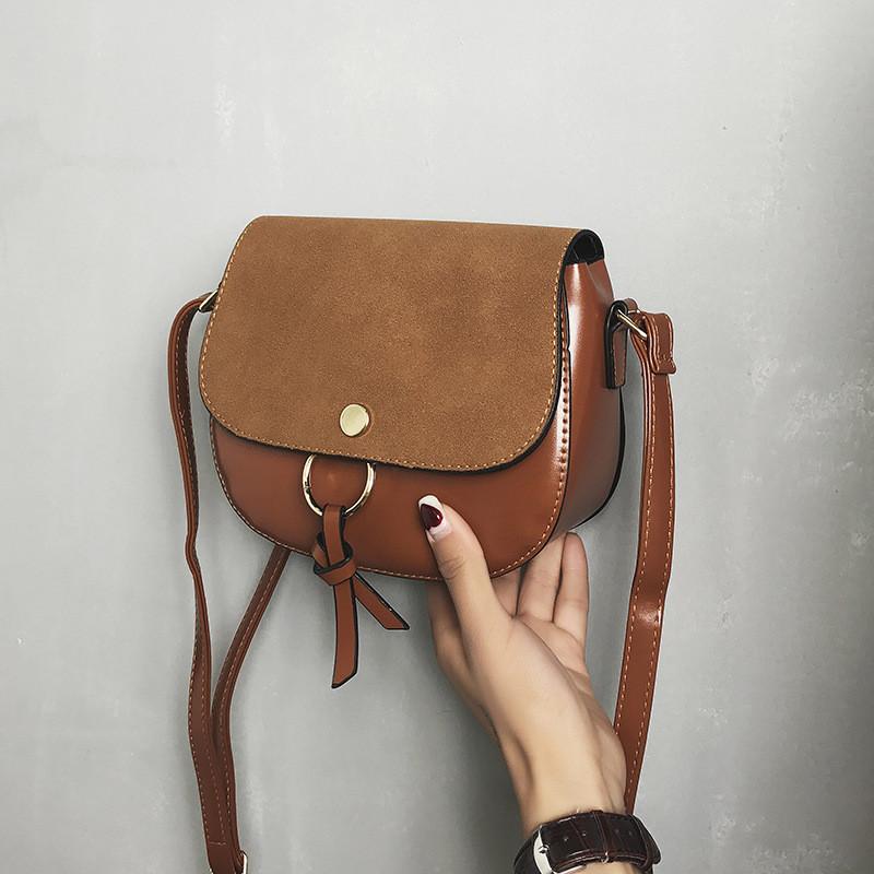 Женская сумочка мини коричневая