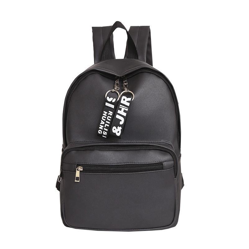 Женский рюкзак экокожа черный большой
