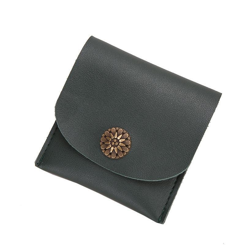 Женский кошелек компактный зеленый