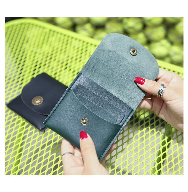 Женский кошелек компактный зеленый, фото 5