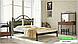 Металлическая кровать Диана на деревянных ножках ТМ «Металл-Дизайн», фото 10