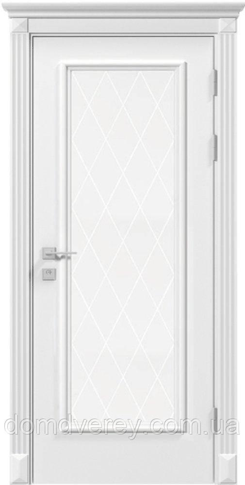 Двери межкомнатные, Родос, Siena, Asti, со стеклом и рисунком, RAL