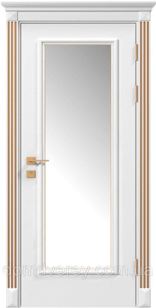 Двери межкомнатные, Родос, Siena, Asti, со стеклом, патина, RAL