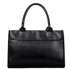 Женская сумка вместительная на молнии черная опт