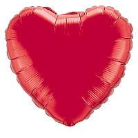 """Фольгированный шар сердце красный 32"""" 206500R Flexmetal"""