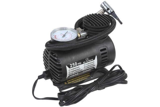 Автомобильный насос компрессор Air Compressor DC-12V / 300 PSI