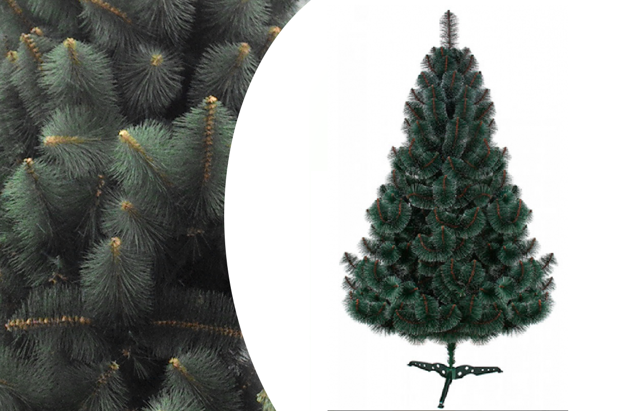 """Сосна """"Новогодняя"""" темно-зеленая пушистая высота 230см, длина хвои 10см"""